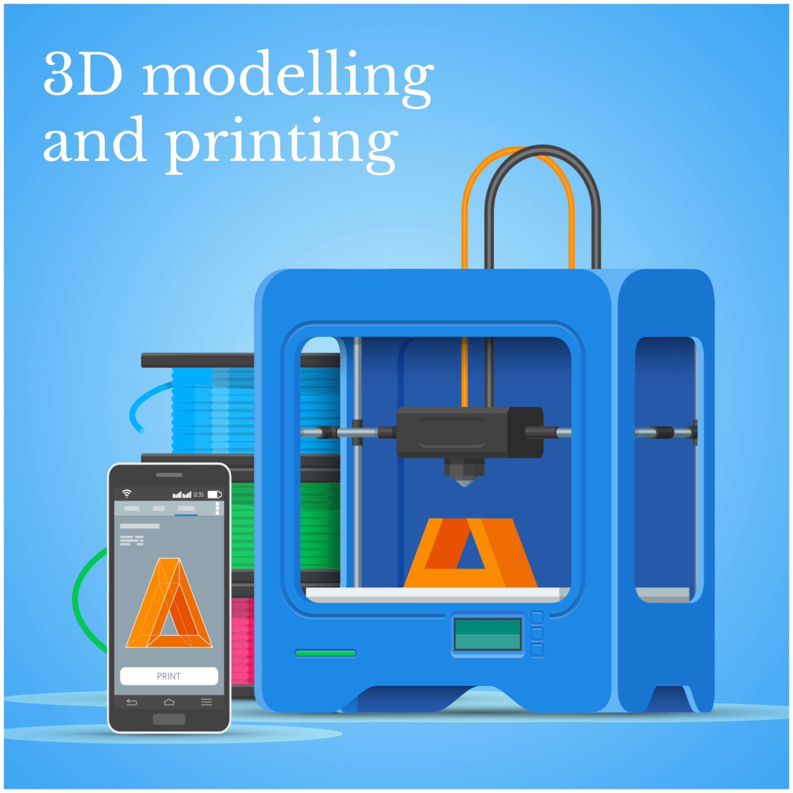 3d modelling and printing club